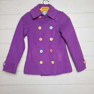 Little Miss Matched Peacoat Purple sz 8